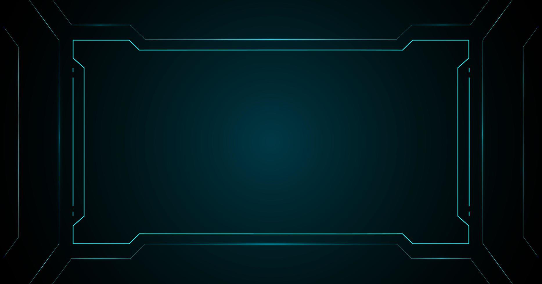 tecnología de marco cuadrado azul interfaz futurista hud vector