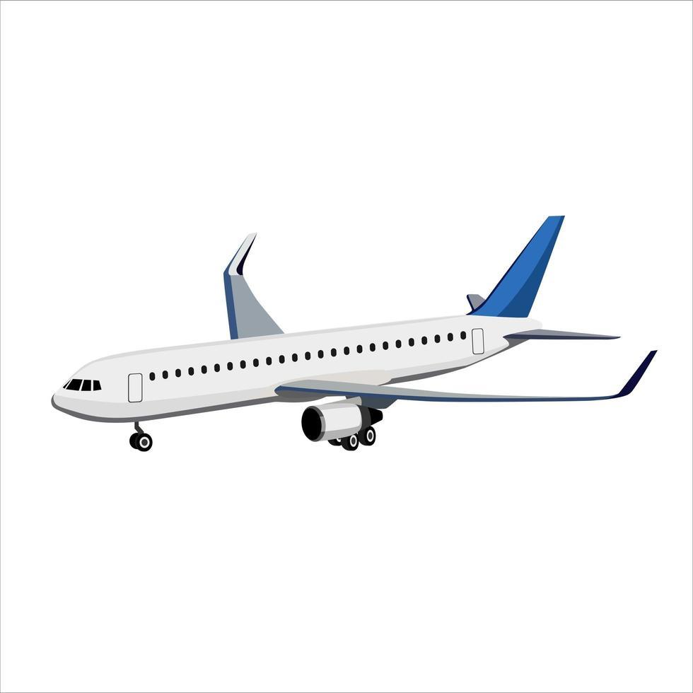 avión en blanco vector
