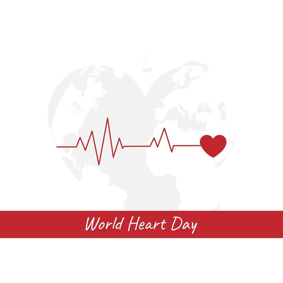 cartão do dia mundial do coração vetor