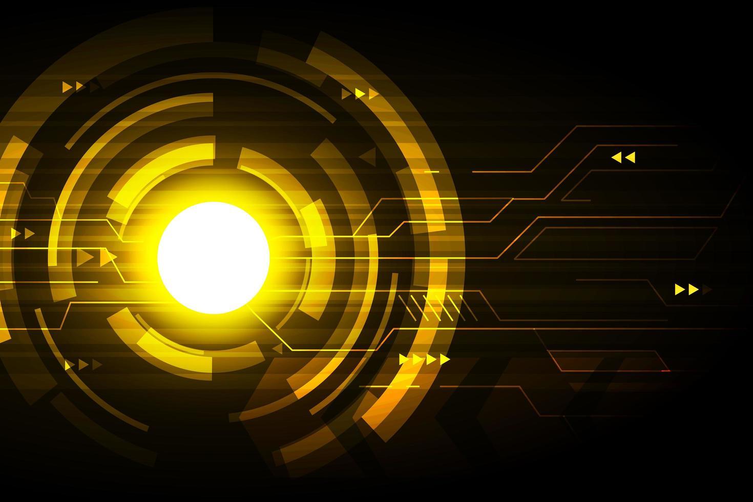 design futurista de tecnologia abstrata dourada vetor
