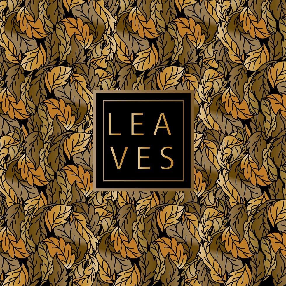 folhas douradas padrão da natureza vetor