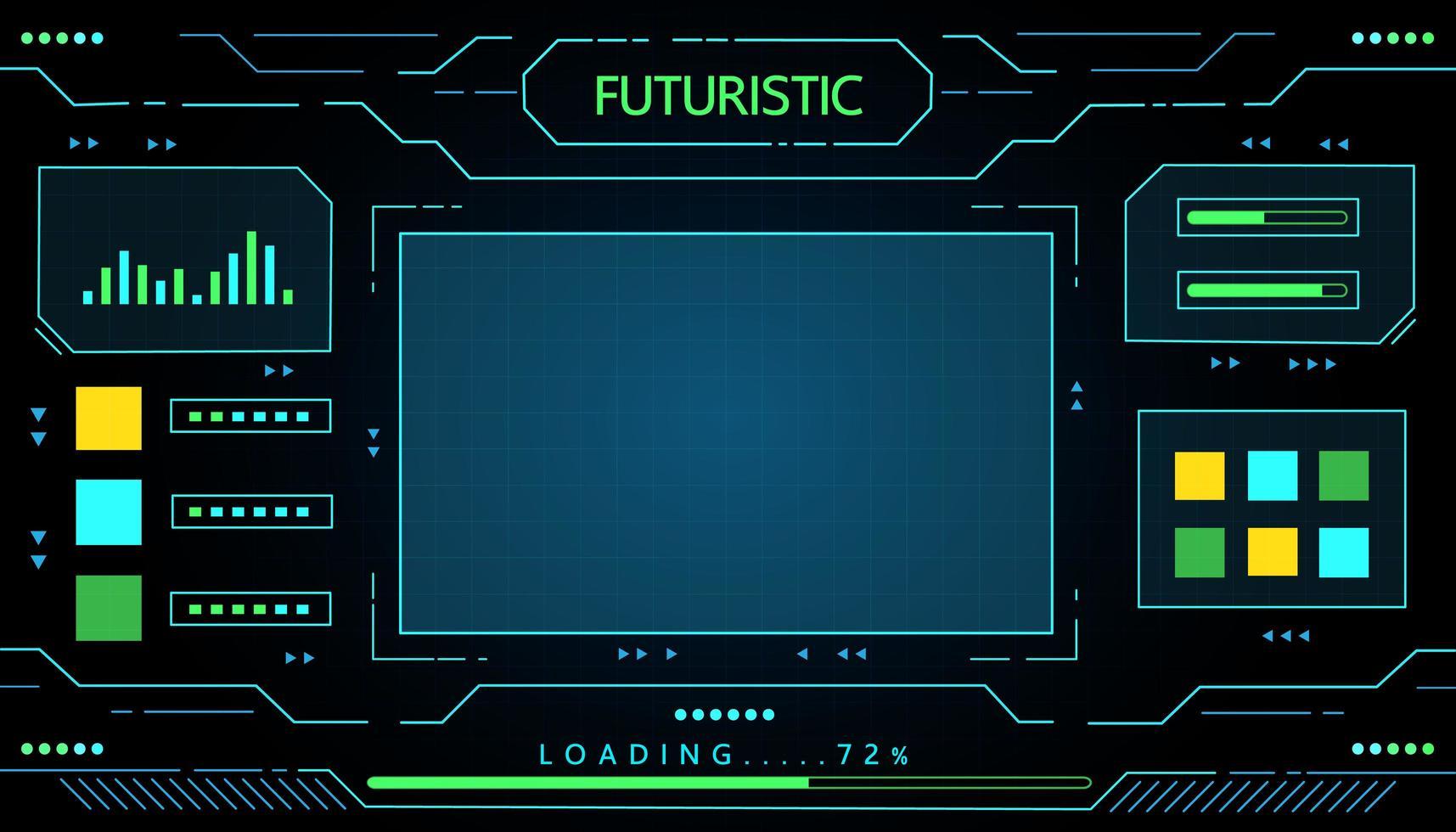design de tecnologia de interface futurista vetor
