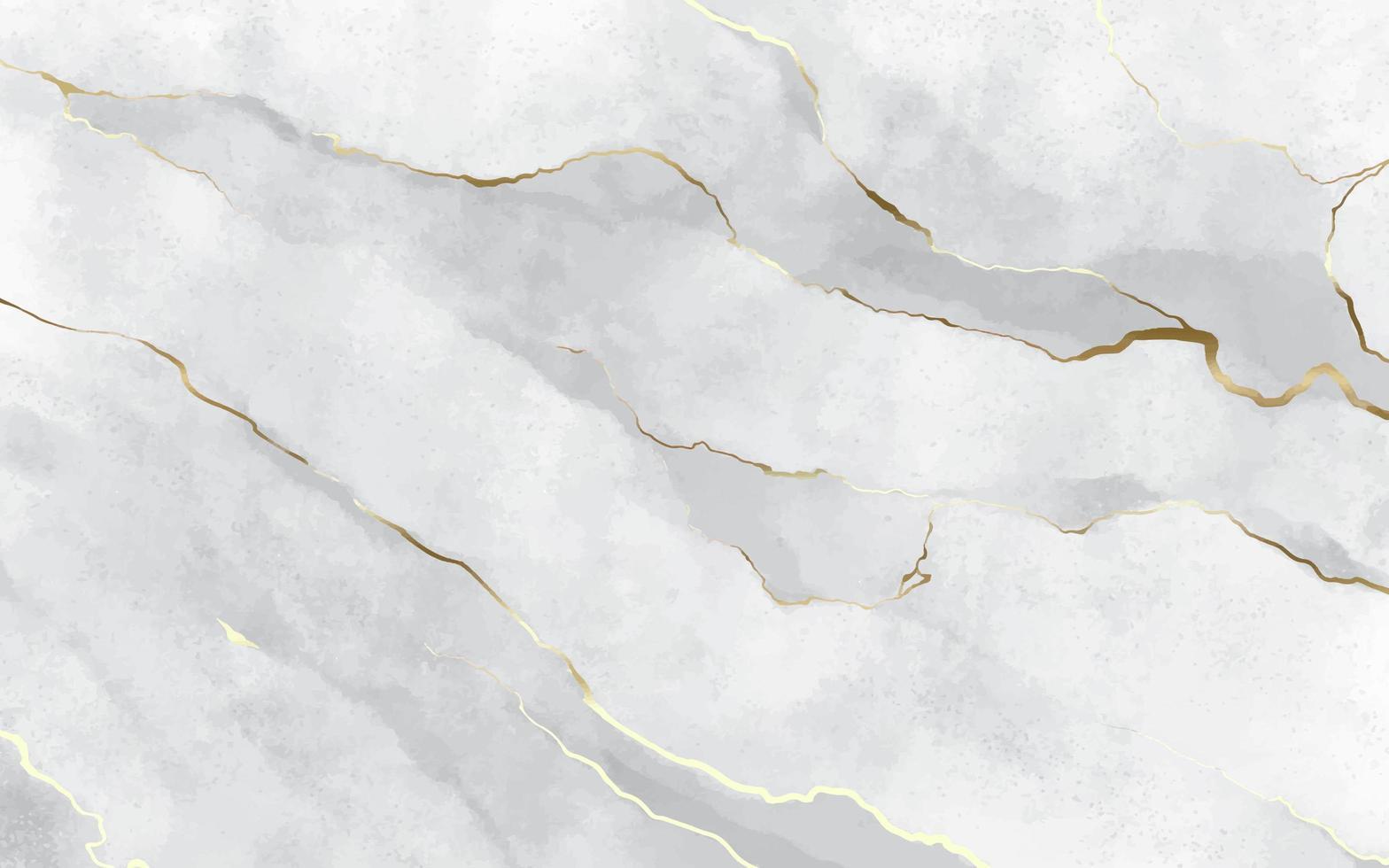 textura de mármore de pedra branca com pinceladas douradas vetor