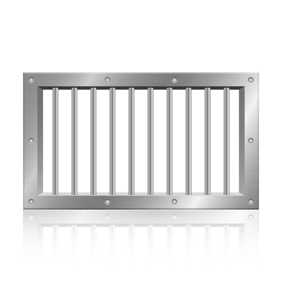 janela da prisão com reflexo vetor