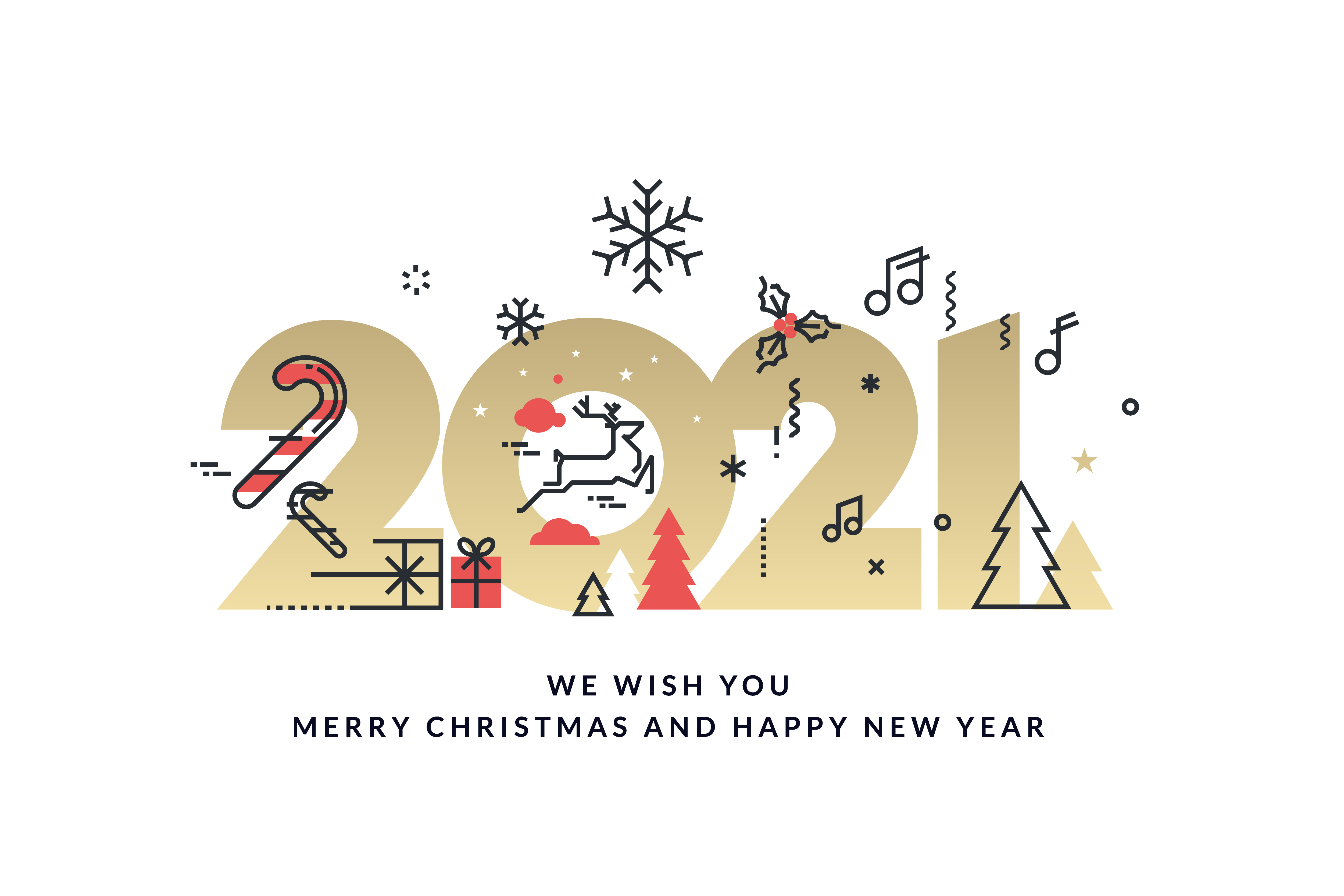 Merry Christmas and Happy New Year 2021 Card - Download ...