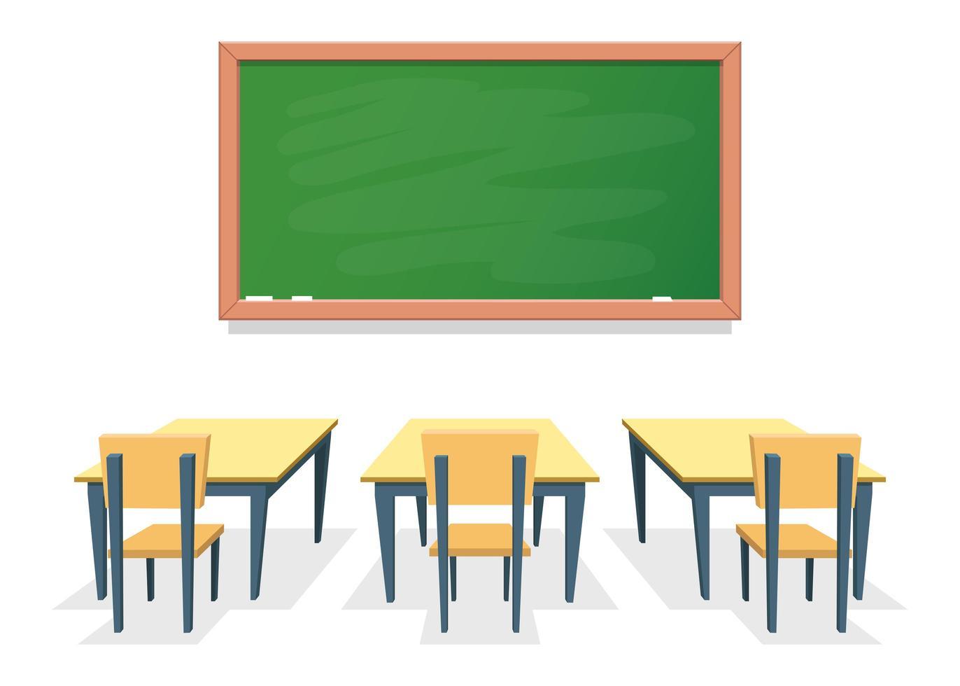 sala de aula com carteiras vetor