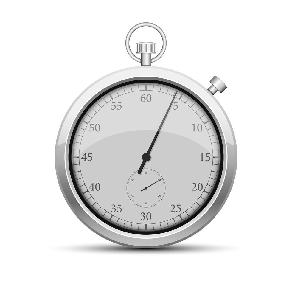 cronômetro prata retro vetor