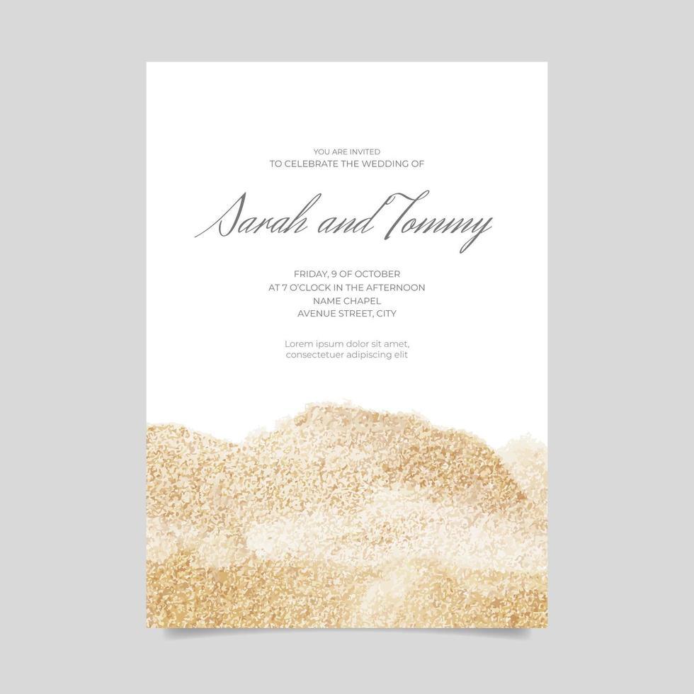 convite de casamento com textura glitter vetor