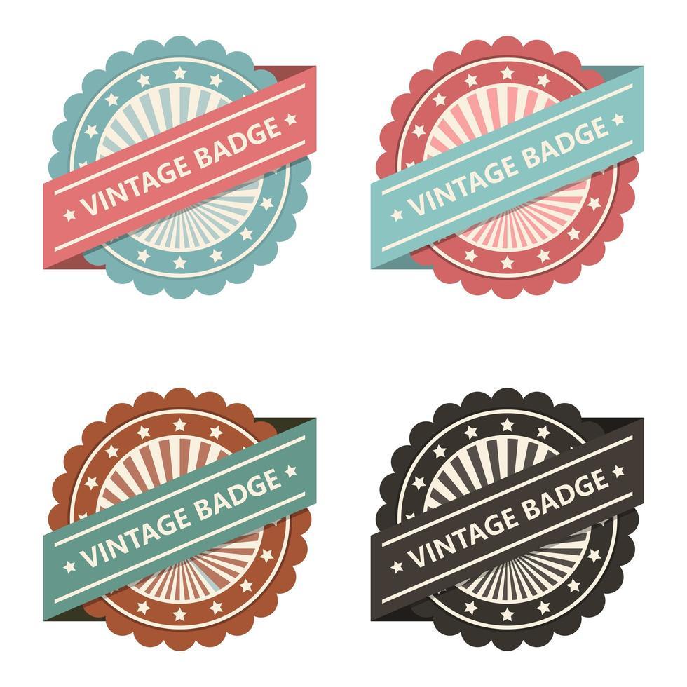 conjunto de distintivo vintage vetor