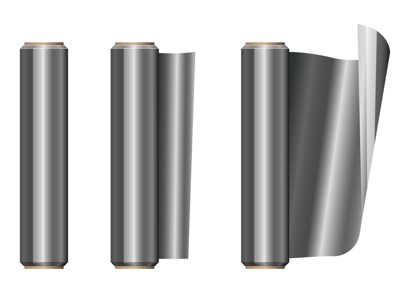 rollo de papel de aluminio vector