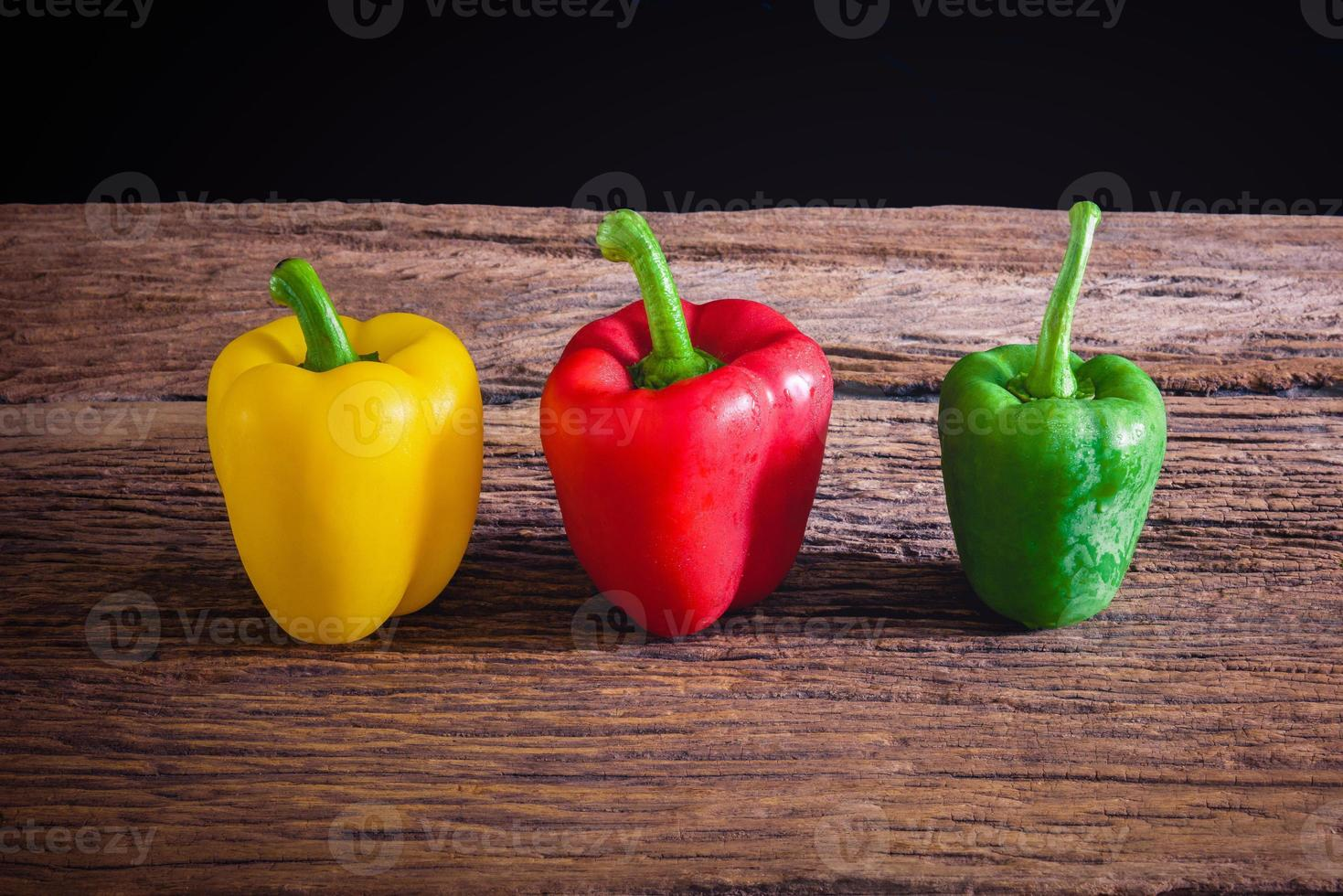 Colored bell peppers photo