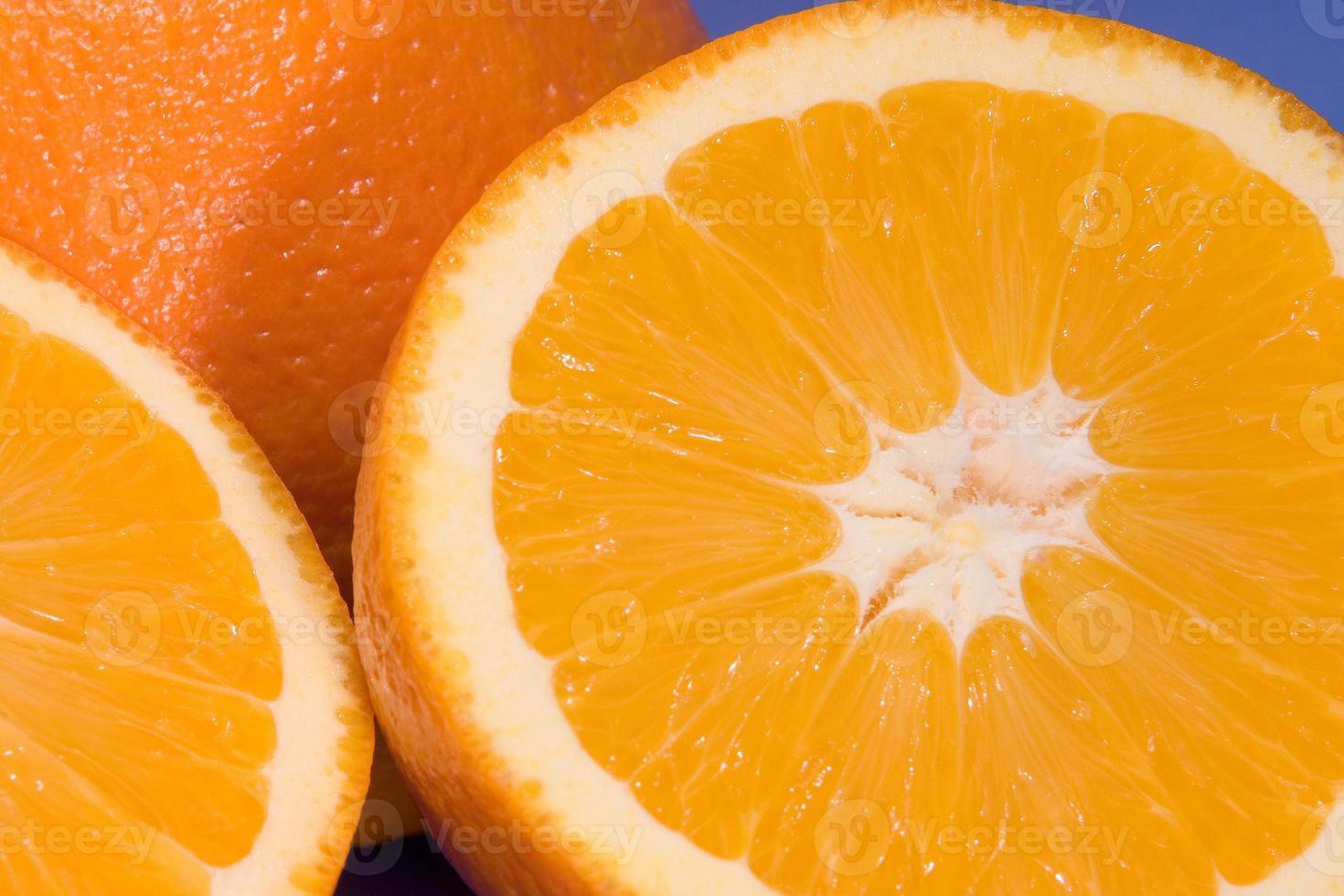 fresh cut orange photo