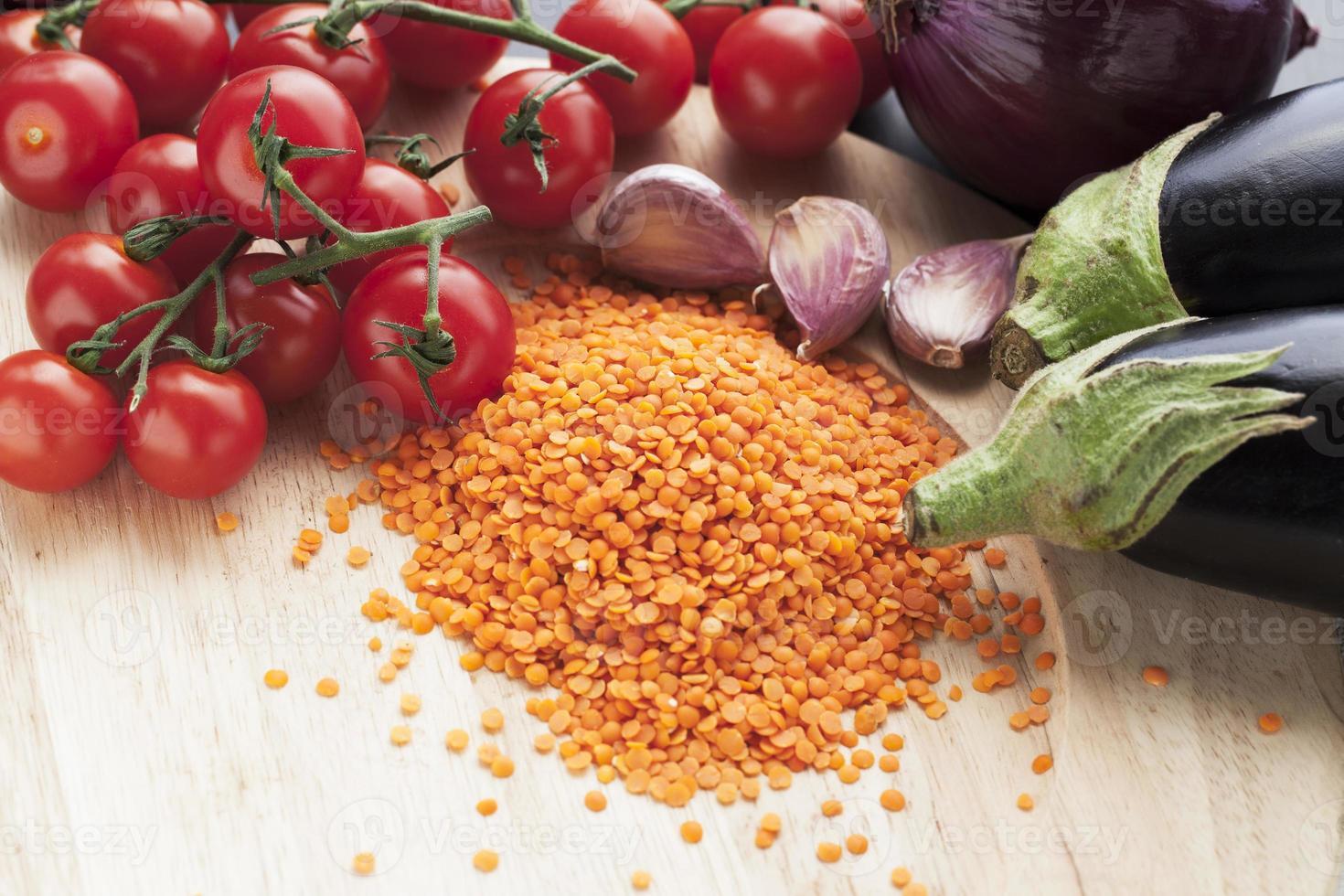 linzen en groenten foto