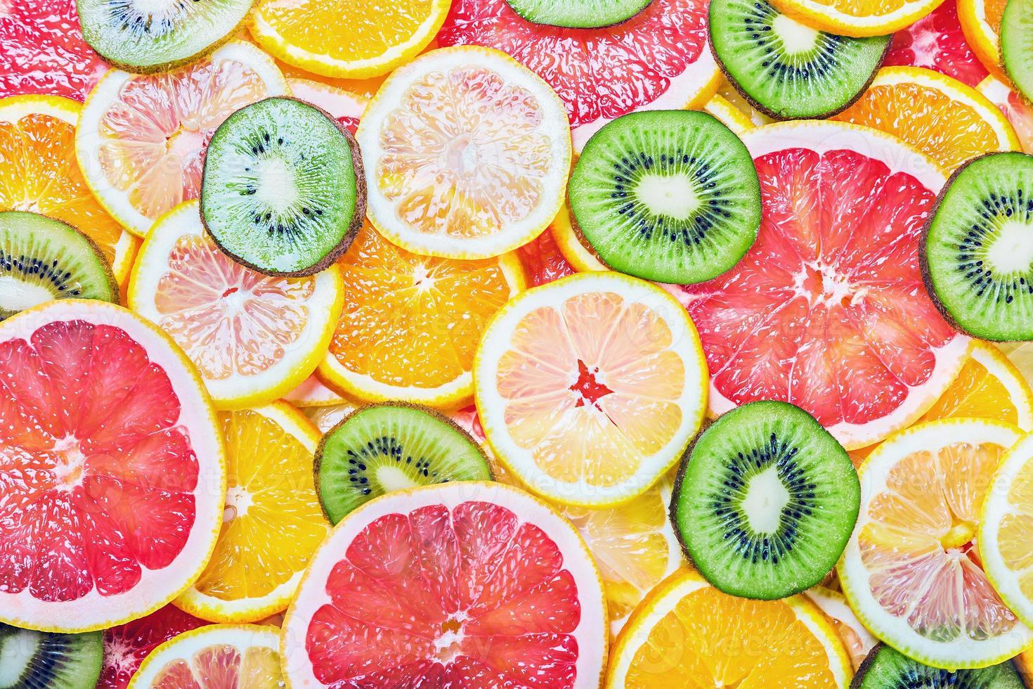 Fresh fruit slices photo