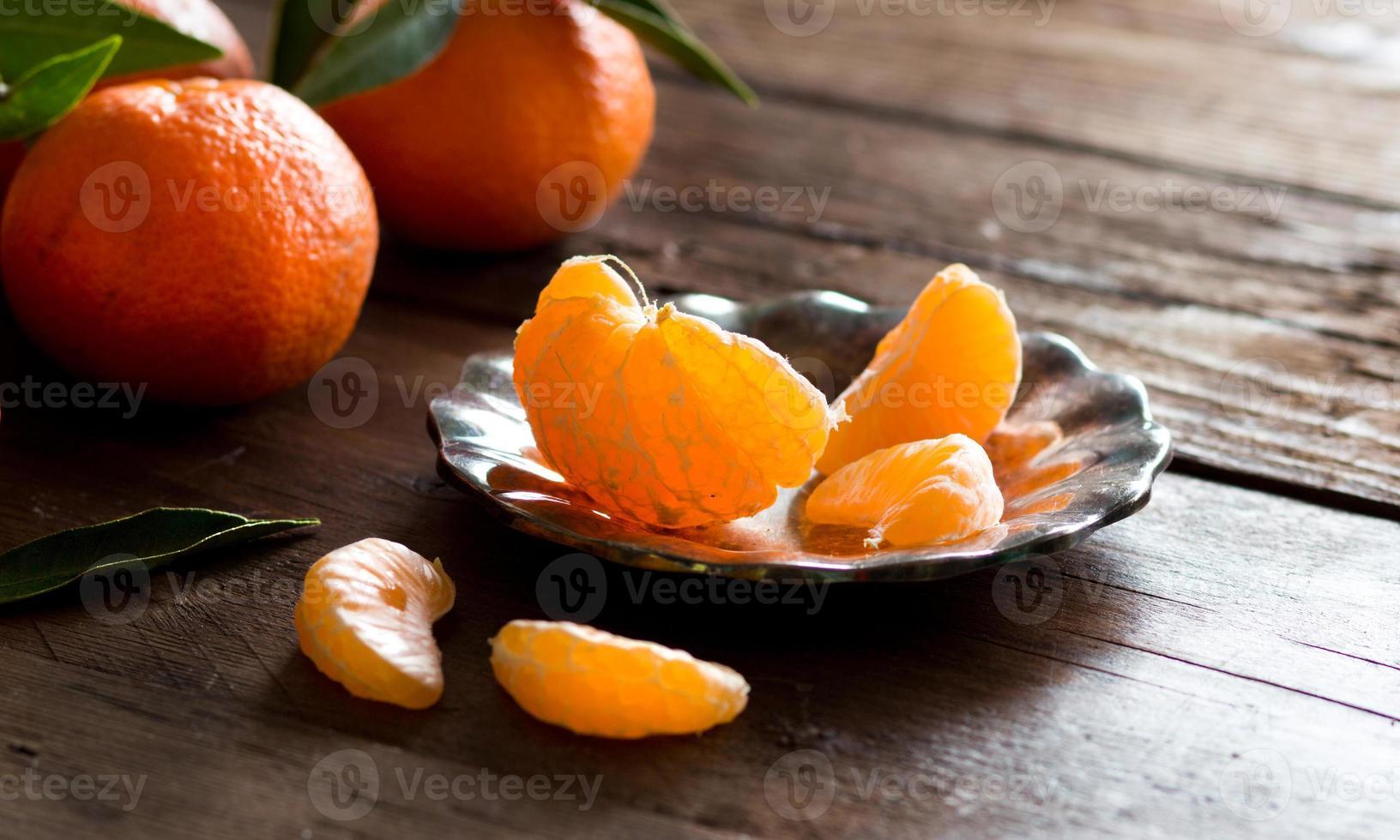 mandarinas frescas foto