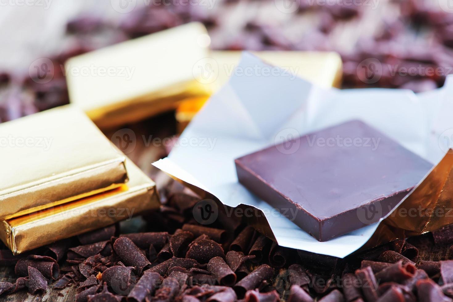 dulce de chocolate foto