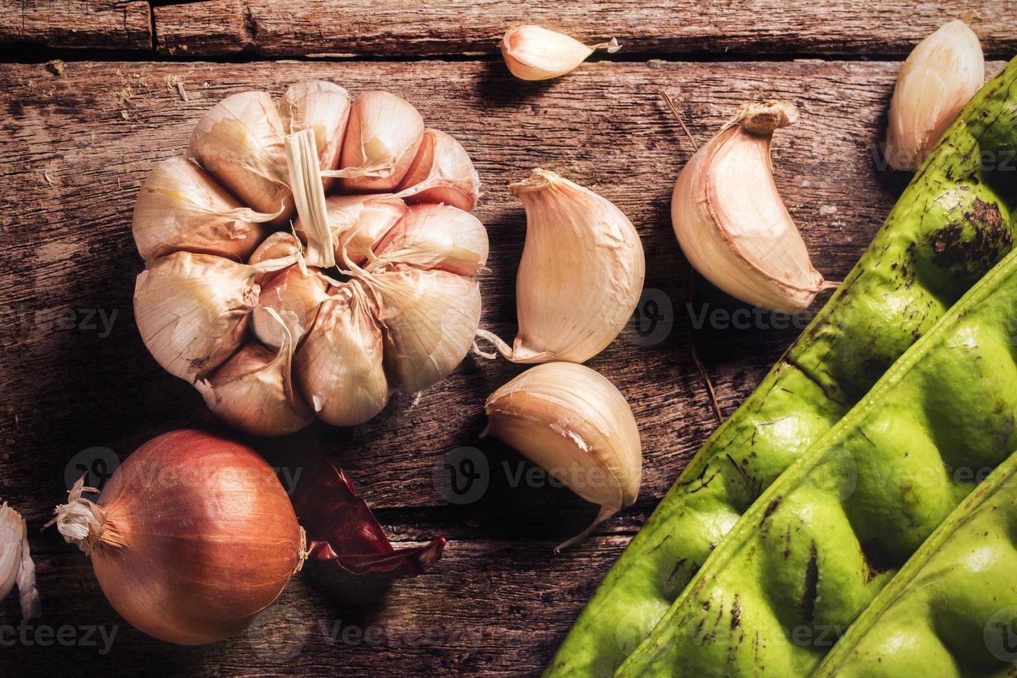 verduras, hierbas y especias foto