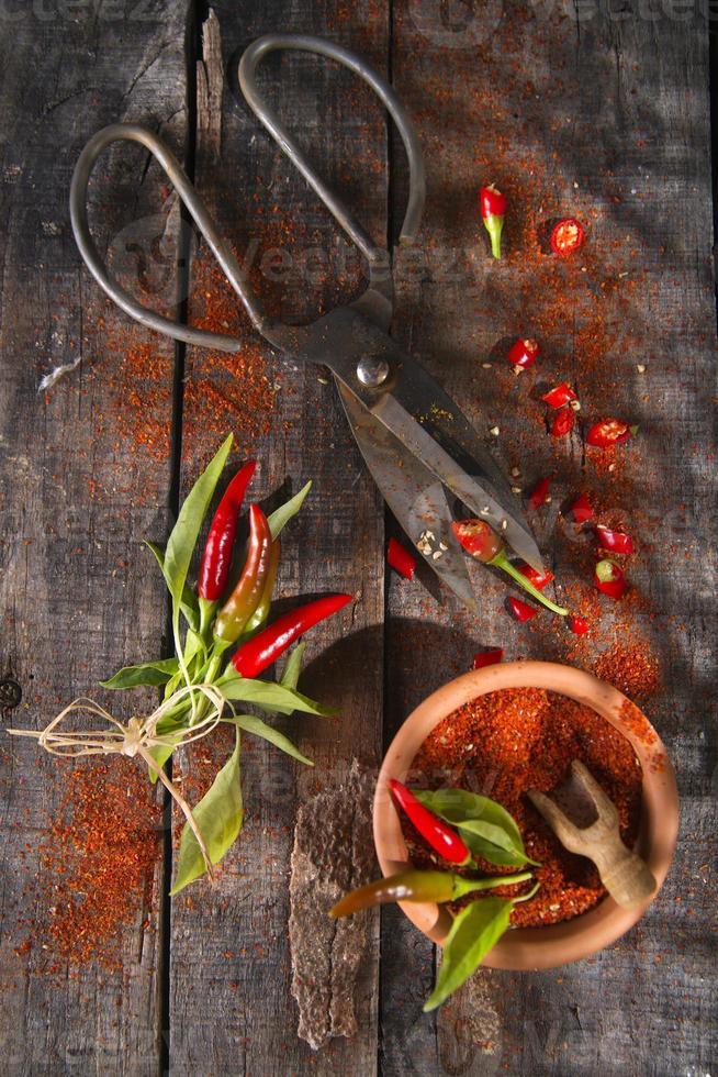 chile en polvo foto