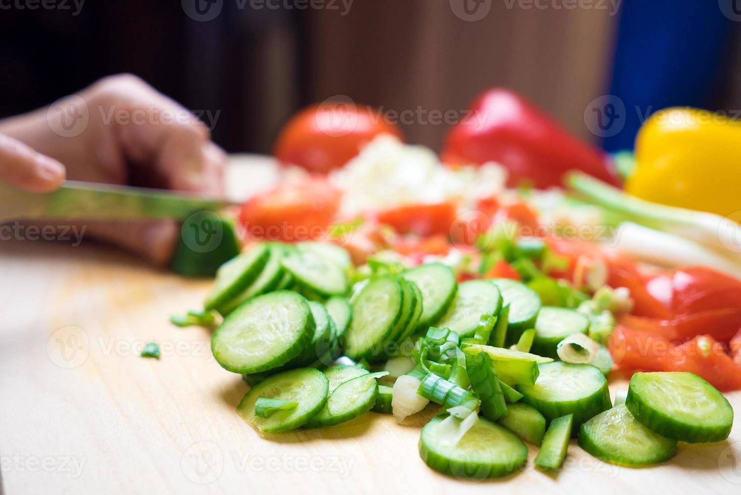 verduras en la cocina foto
