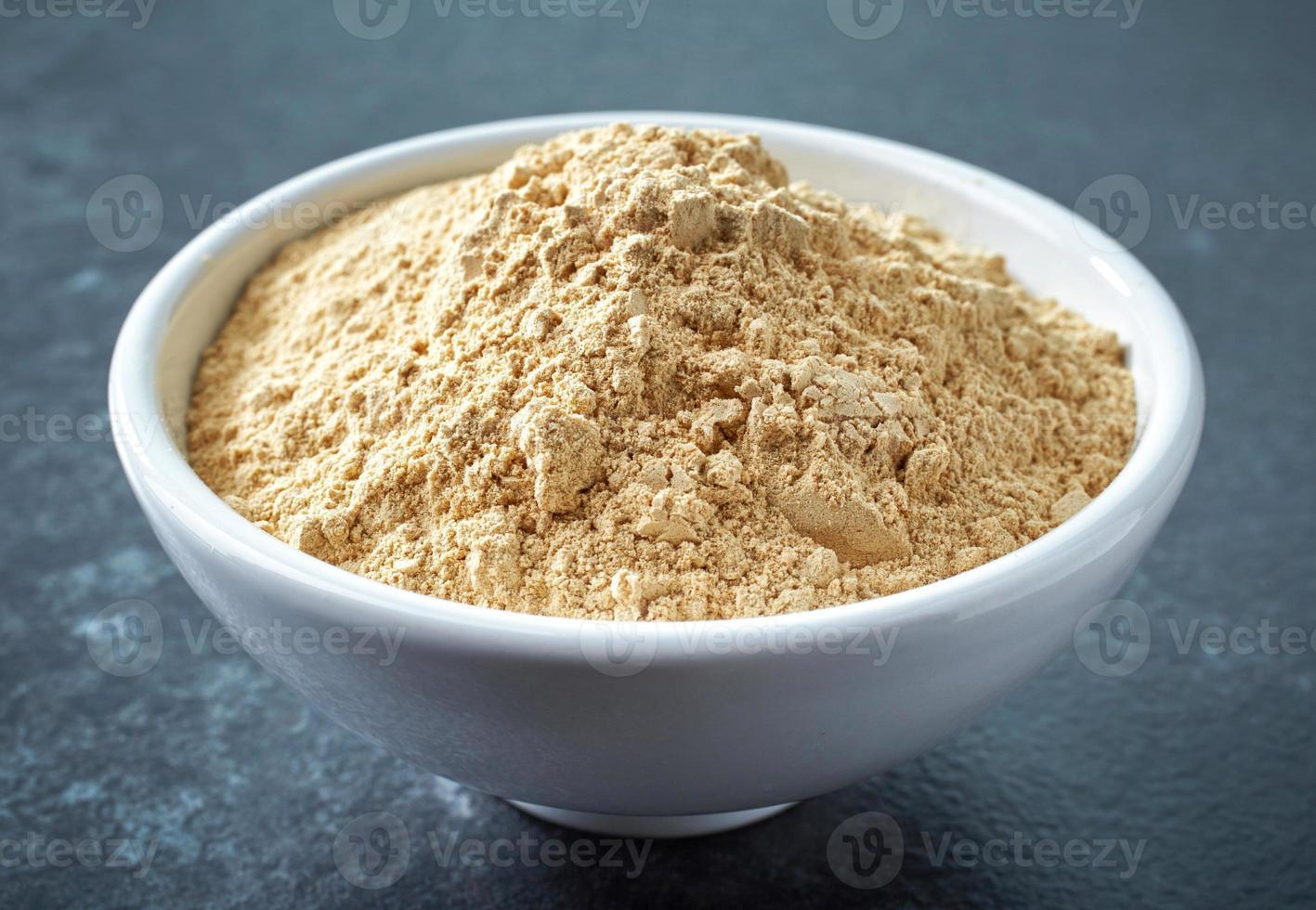 bowl of maca powder photo