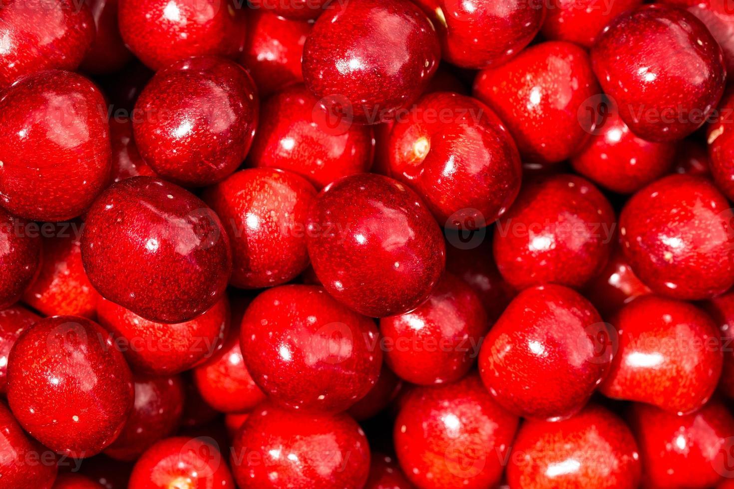 fondo rojo cereza dulce foto