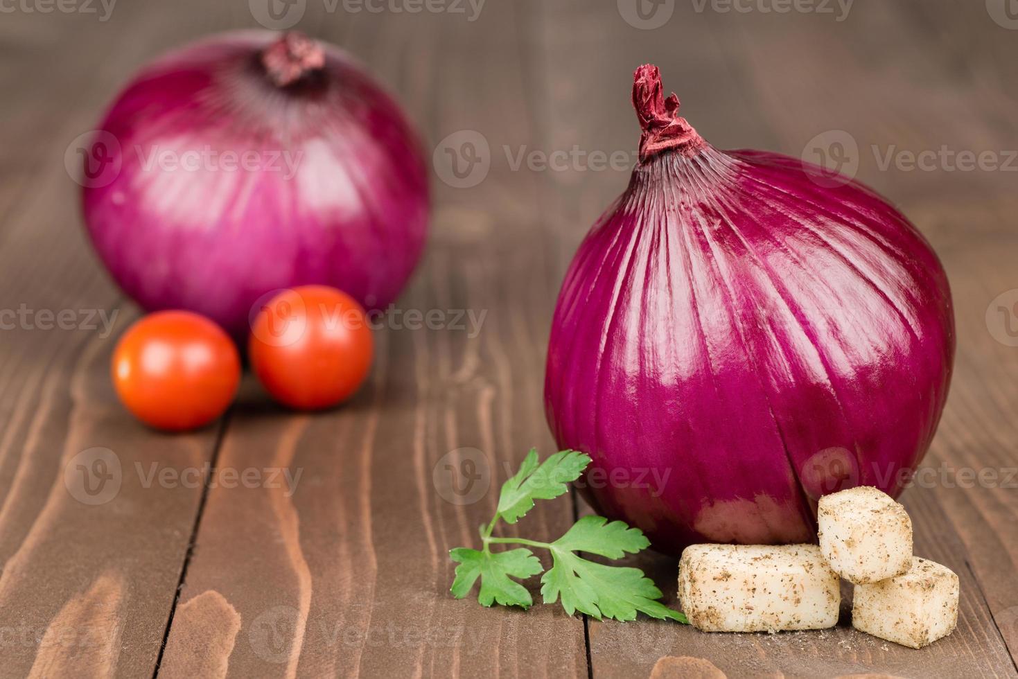 cebolla roja foto