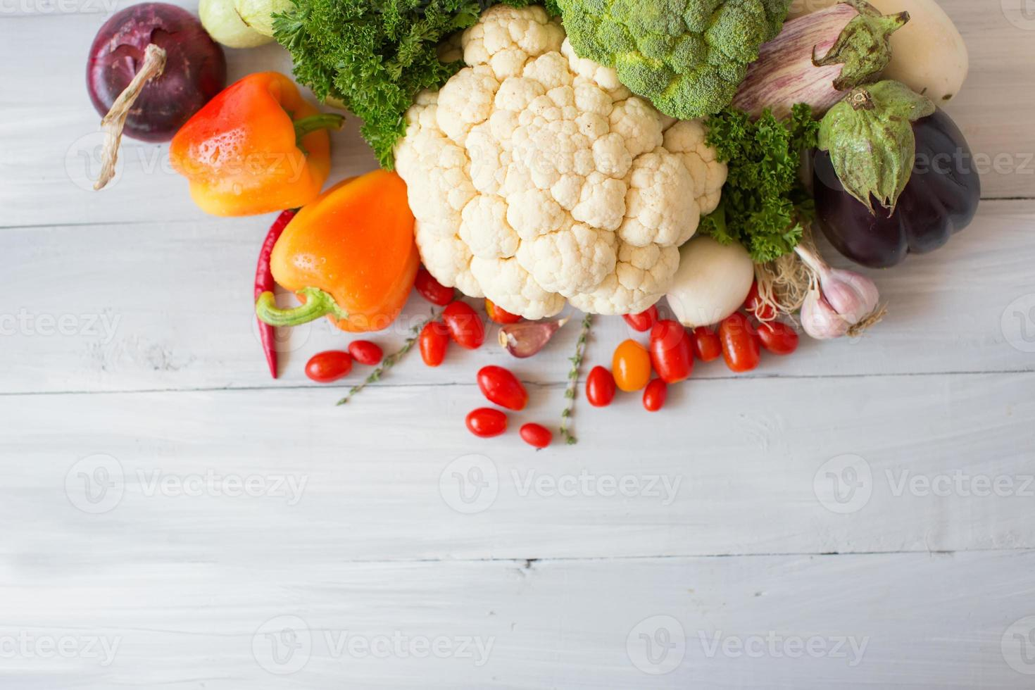 vegetales frescos. foto