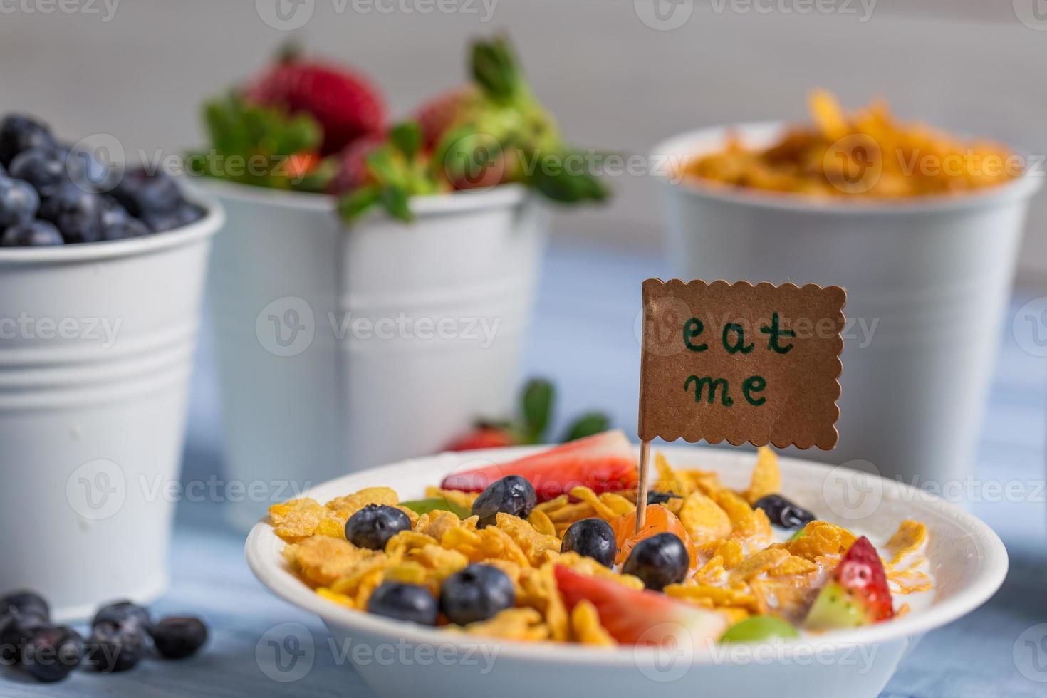 Healthy breakfast ready to eat photo