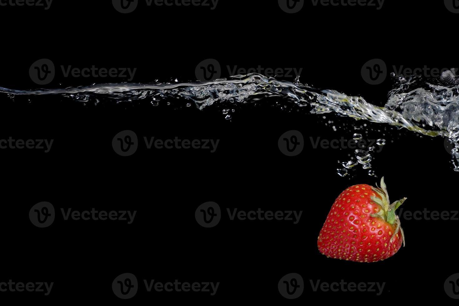 Splashing Strawberry photo