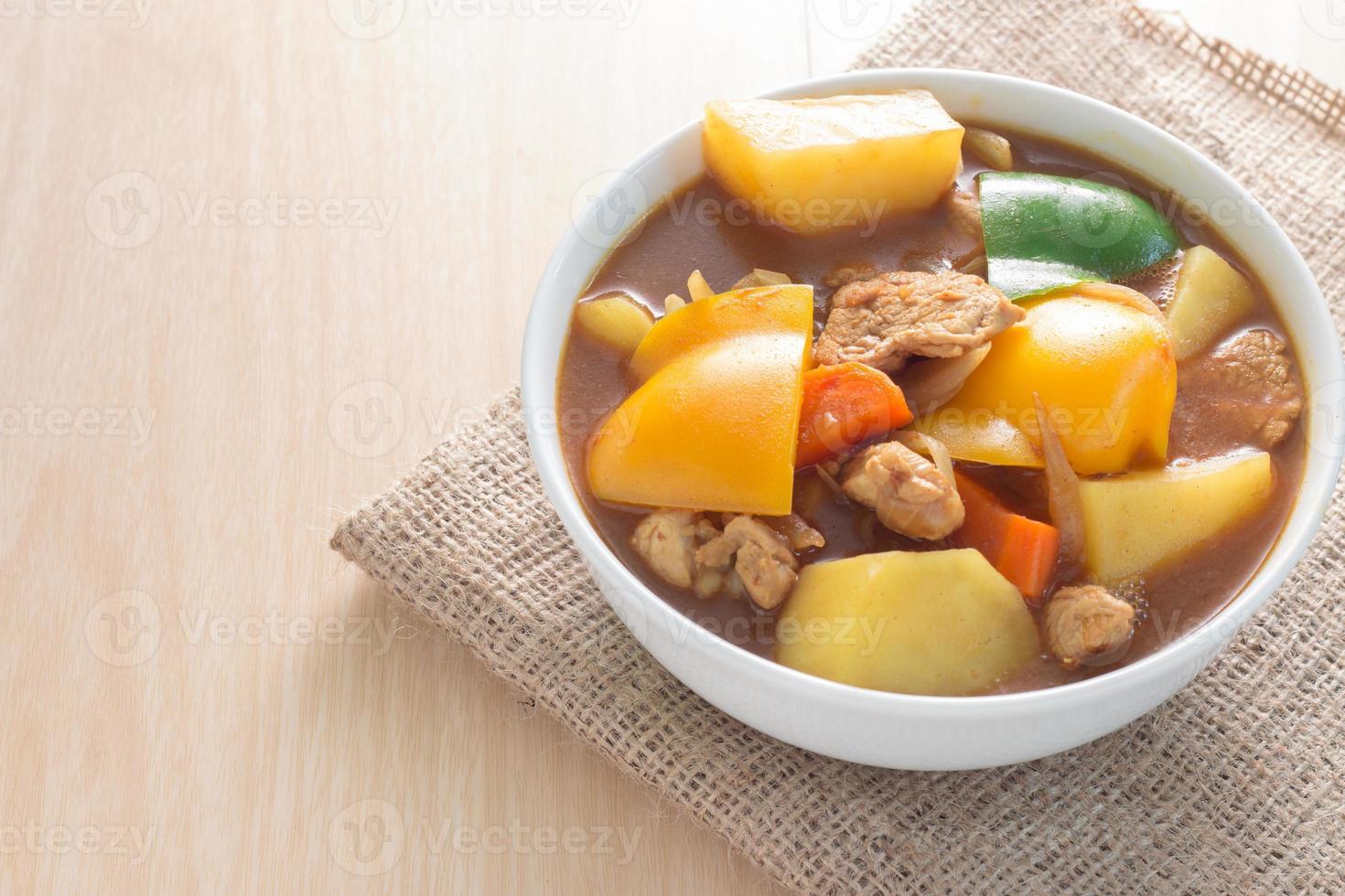 Pork curry photo