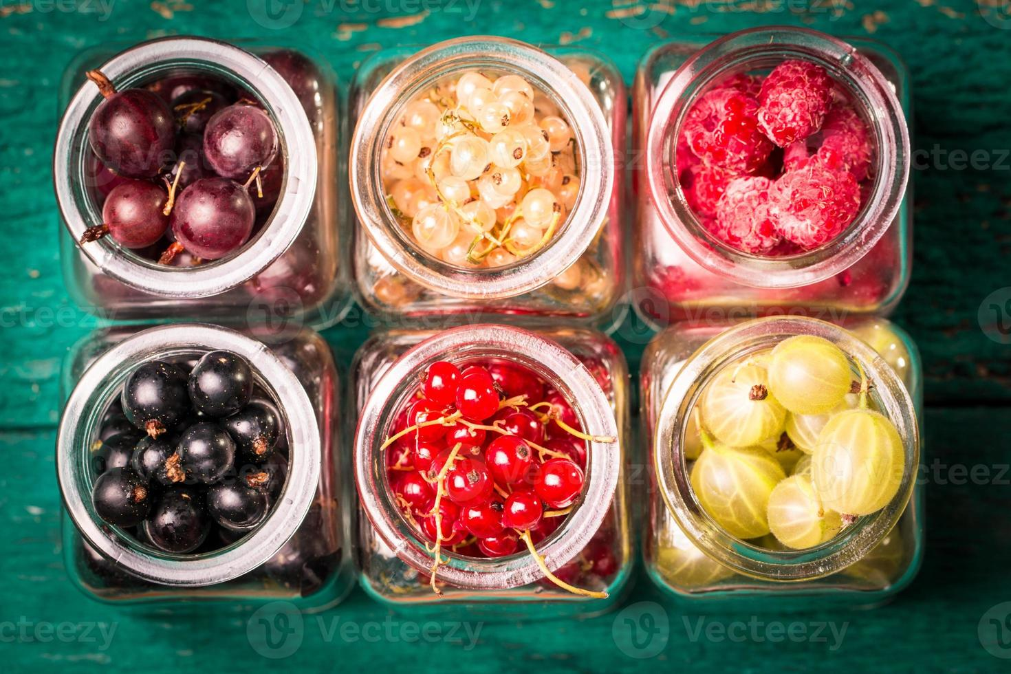Fresh summer berries,wooden background,healthy food. photo