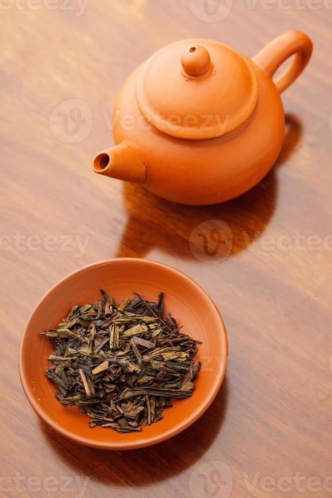 Chinese dried tea leave photo