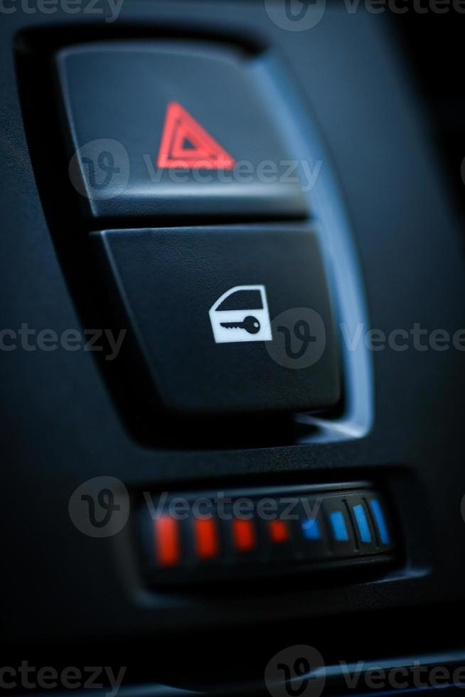 Car door lock button photo