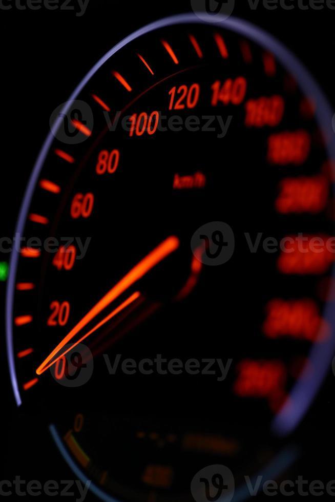Speedometer detail photo