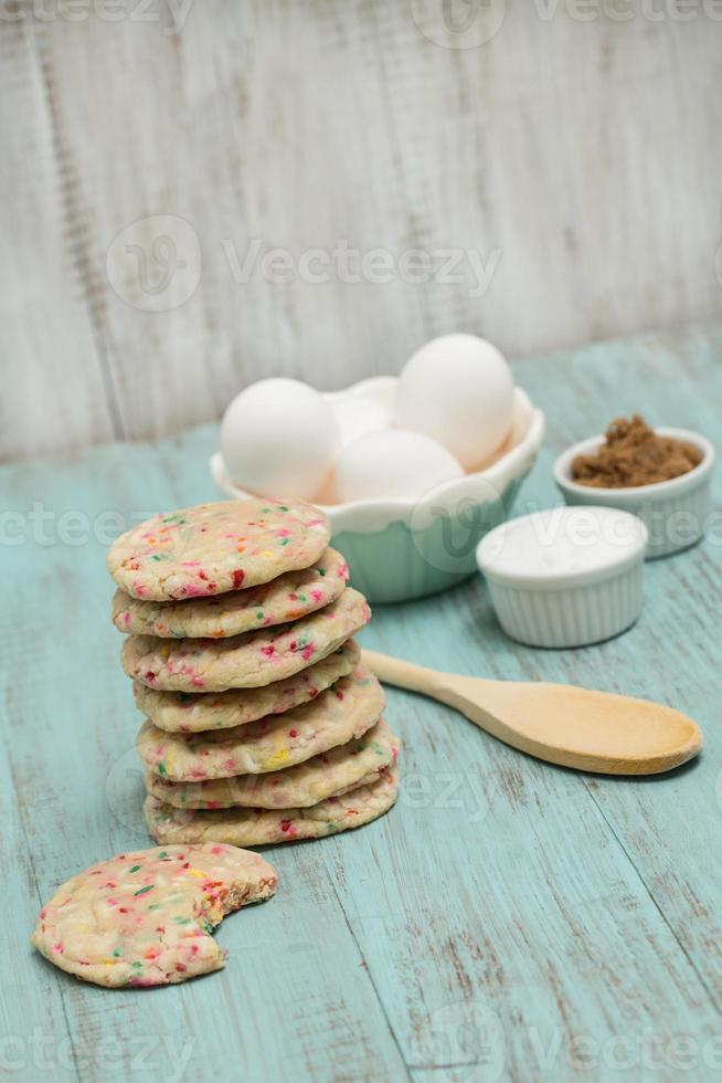 Confetti Cookies With Eggs and Sugars photo