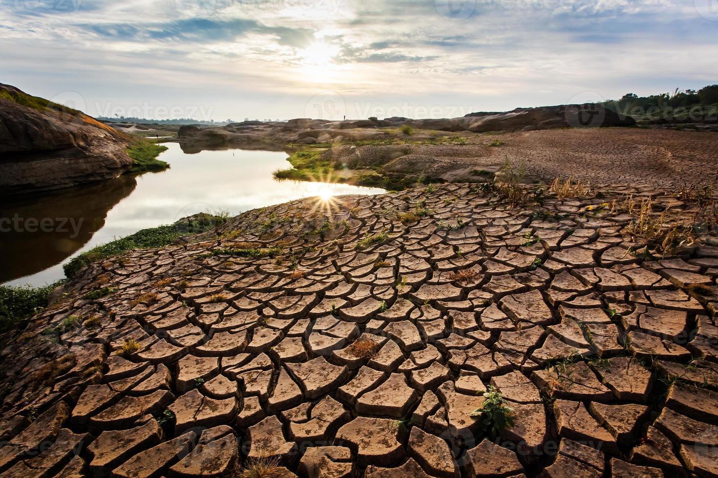 Drought land so long. photo