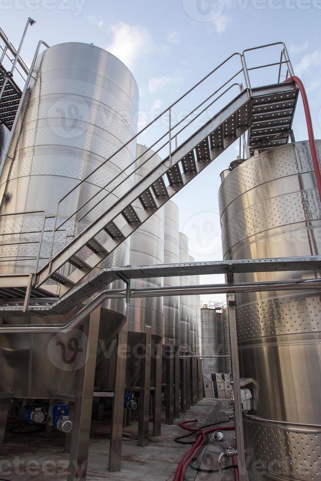 Wine Factory Aluminum Barrels photo