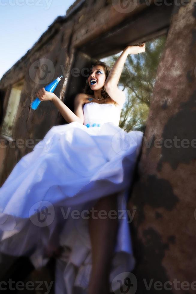 Blue Paint Bride photo