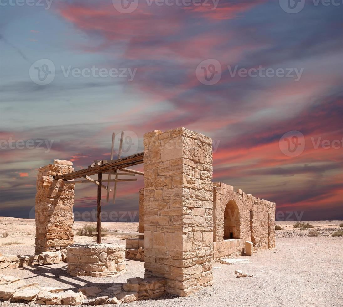 Quseir (Qasr) Amra desert castle near Amman, Jordan. photo