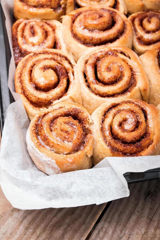 Cinnamon buns photo
