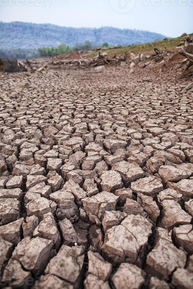 Dry and cracked earth background photo