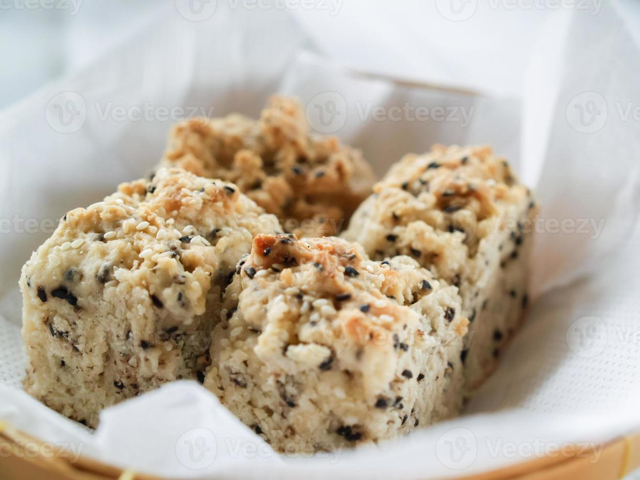 sesame soft biscuits in a basket photo