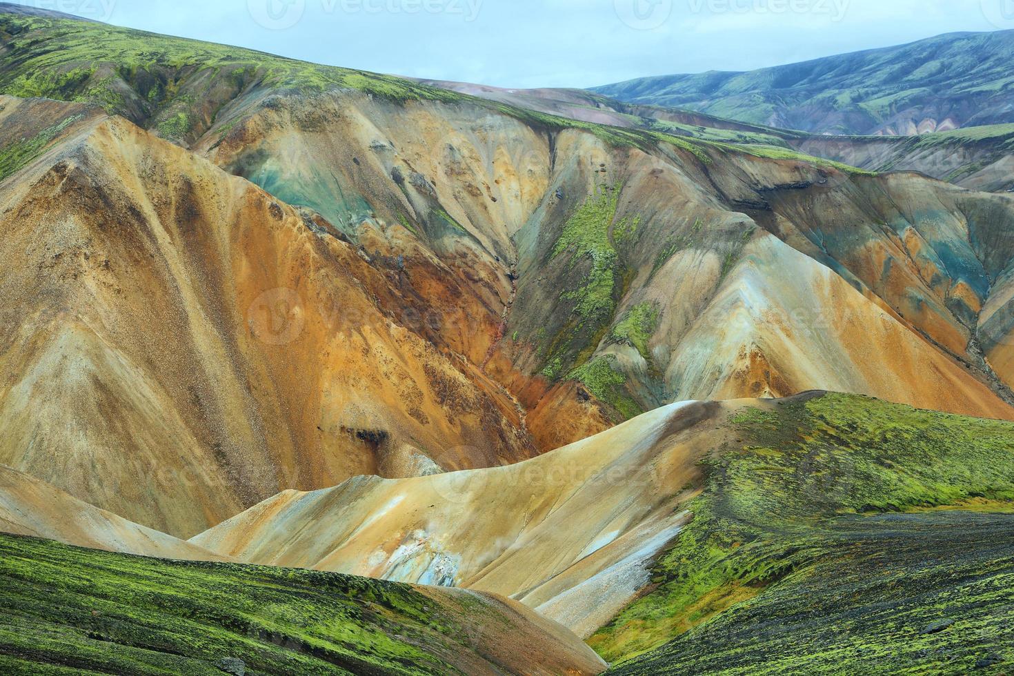 Multicolored mountains at Landmannalaugar, photo