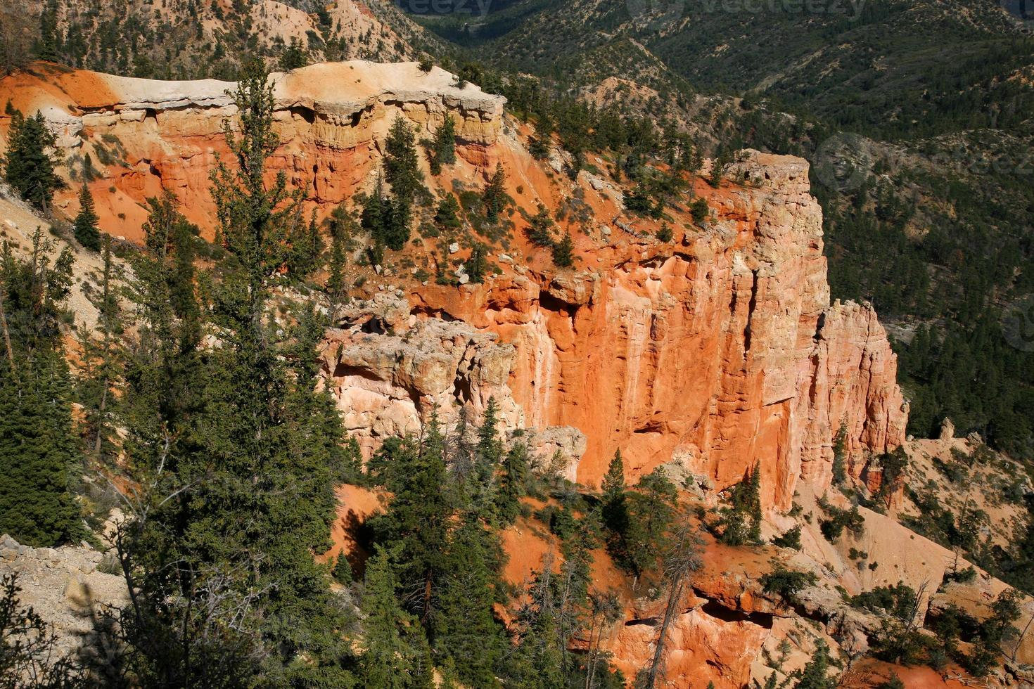 Rare rock formations of Bryce Canyon National park photo