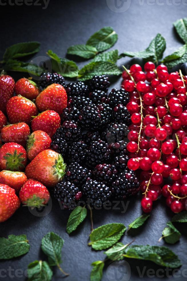 All berries fresh, from farm or forest photo