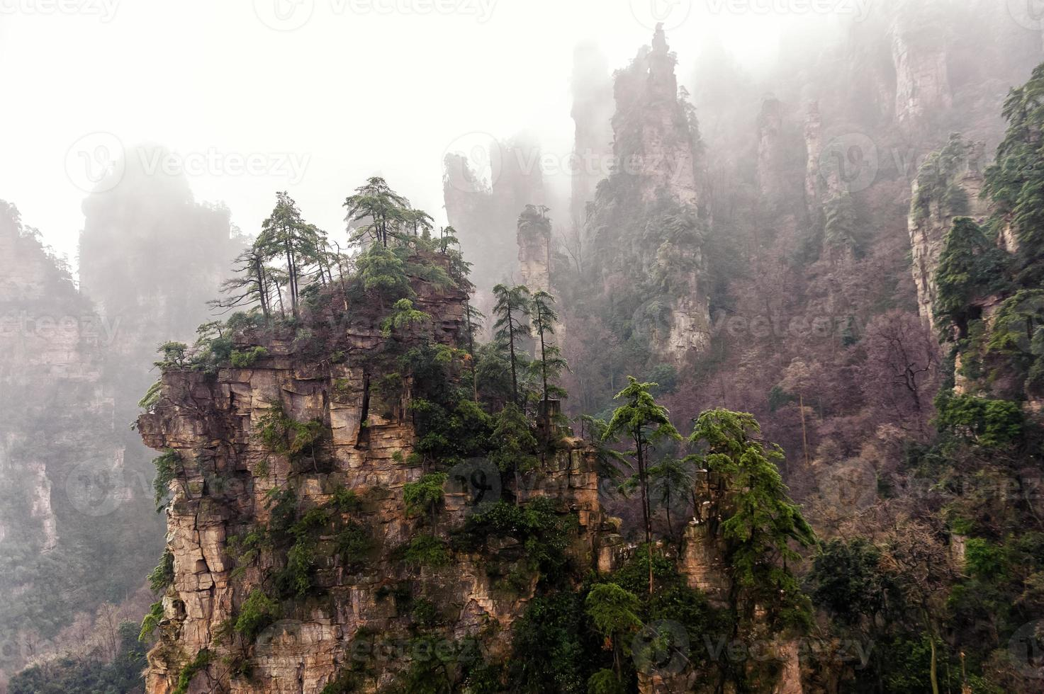 foggy Zhangjiajie photo