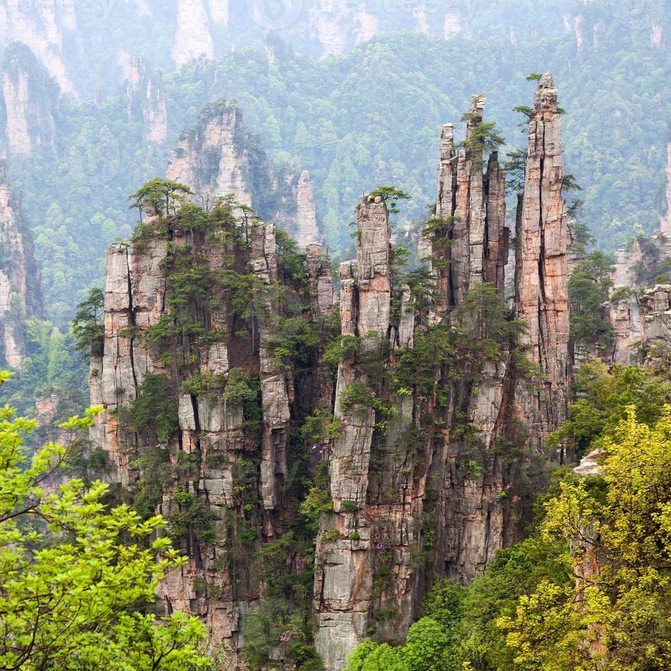Zhangjiajie National Forest Park in Hunan Province, China. photo