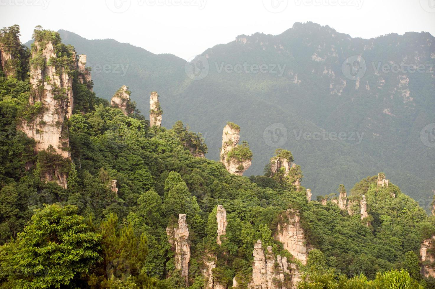 Mysterious mountains Zhangjiajie, HUnan Province in China. photo