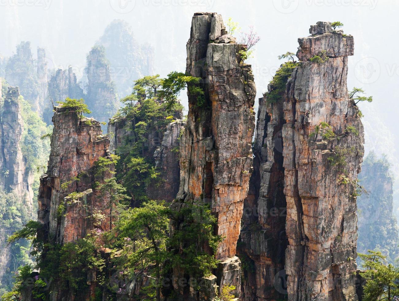 Zhangjiajie National Forest Park in Hunan Province, China photo