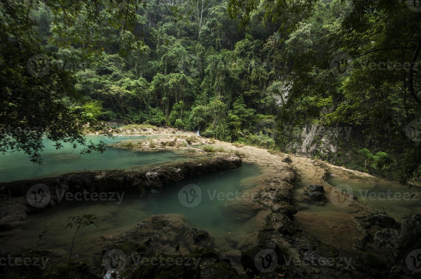 piscinas semuc champey, guatemala foto
